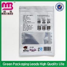 Customized graphics aluminum ziplock food bag wholesales