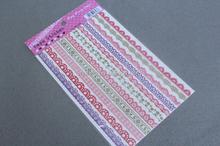 Colorful decor tape lace fabric sticker