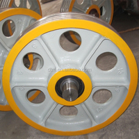 Cast Iron Elevator Traction Sheave, Deflector Sheave, Pulley Sheave