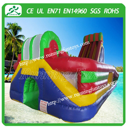 Giant inflatable bouncer slide with obstacle course on sale