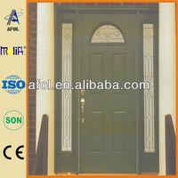Afol genuine fiberglass exterior carved molding door