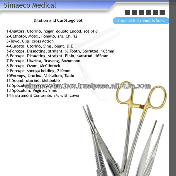 Surgical Instruments,Surgical Sets,Dilation And Curettage ...