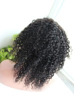 High quality wholesale cheap hot selling 100% unprocessed human hair natural black malaysian kinky curly full lace wigs