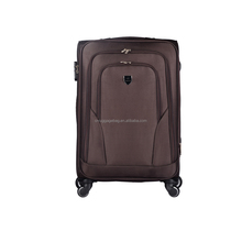 exported south america smooth 1680D nylon cloth aluminium luggage trolley case