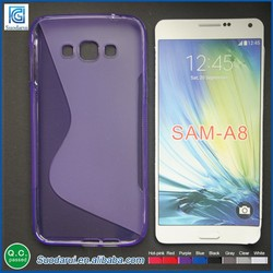 High Quality Mix Colors Soft Gel S-line TPU Cases Cover For Samsung Galaxy A8