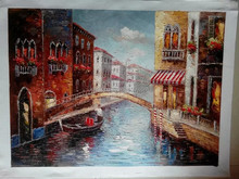 Wholesale Handmade Beautiful Scenery Oil Painting Picture