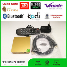 2015 hot sell products google android 4.4 quad core Allwinner H3 android smart tv box skype