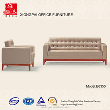 PU leather office sofa/couch with wood legs cleaning E6350
