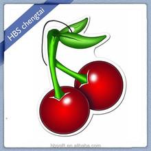 Offset printing cherry fruit shaped air car freshener for car