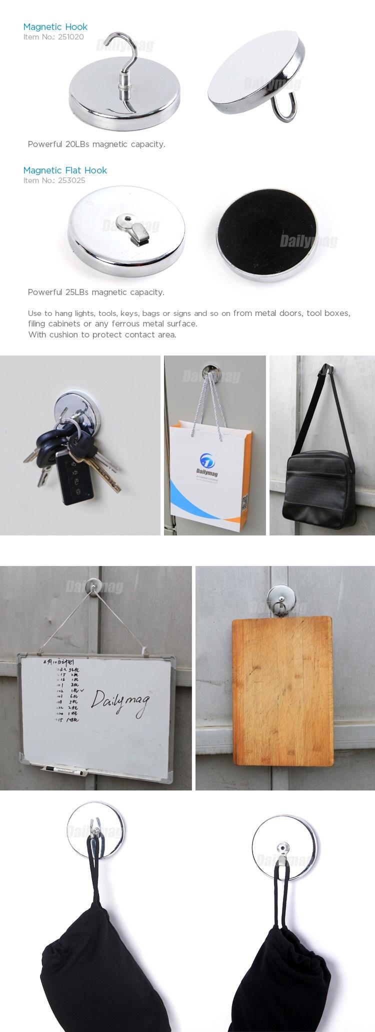 251020 253025 magnetic hook+ 20LBS Magnetic Hook -- Magnetic Clip Refridge Door Cloths Hanger Key Holder.jpg