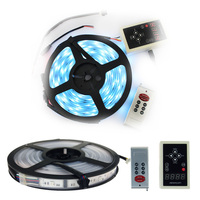 Newest 2015 5M 6803 IC 5050 Dream Color Magic RGB LED Strip Waterproof Rating IP67 30led/m+ 133 Color Change RF Controller