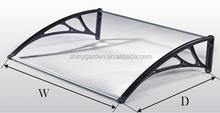 PC Hollow sheet aluminum frame rain awning