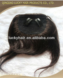 Straight hair Natural Brazilian Virgin Hair Bangs in stock