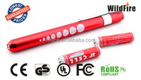 EDC medical torch light with pen snap and tape measure high power bead flashlight