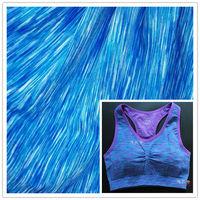 uv treated rainbow space dye polyester spandex fabric