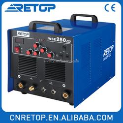 WSE200 electric iron aluminum pluse tig weld ac/dc inverter welder welding machine manufactures