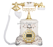 Dial Telephone for Sale for Young People with Flower Carving GBD-6025A