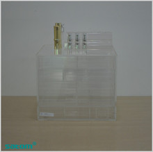 Hot design and lower price clear acrylic makeup organizers