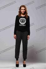 womens viscose printed leggings ladies printed pants elastic bottom trousers bloomers /knickers/plus fours pants