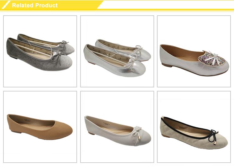 Vrac pas cher pliable filles PU ballet plat chaussures pour vente
