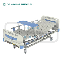 CE Cheap Medical Hospital Beds, Stainless Steel Side Rails Double Crank Manual Ward Bed