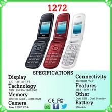 Tipo flip telefones celulares e1272 da China manufactor vender para o Peru colômbia Guatemala ect