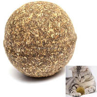 Pet Cat- Playing Chasing Toys Natural Catnip Treat Ball Home Healthy Material Edible Treating