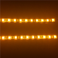 12v Wireless LED Accent Amber Strip Light Remote Neon Glow Controller Bike Car Truck