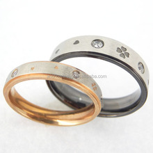 fashion wedding couple purity ring, 316 stainless steel CZ wedding rings