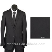 de alta calidad del carbón de leña gris color personalizadoinstalado para hombre traje de negocios
