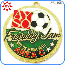 Soft enamel foot ball sport metal medal for foot ball activitys