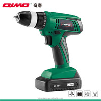 qimo power drill electric replacement lithium battery for 18v cordless drill battery 1009 18v 10mm 0-350r/m