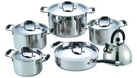 11PCS stainless steel cookware with silicon ss lid electrical household items