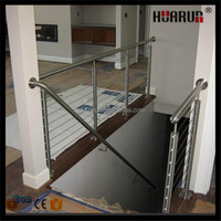 HR1407A 42mm round post stainless steel balustrade of terrace balustrade