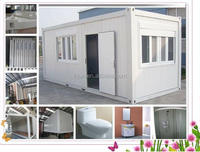 2015 ISO china factory whoelsale Light steel structure sandwich panel container house prices