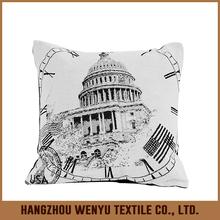 PLUS 2015 hot selling cheap jacquard black and white custom Chair Cushion Cover