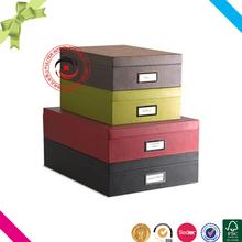 Custom top sale pretty fine paper cardboard storage set boxes