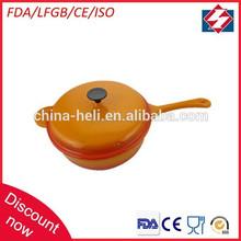 Profesional redonda de hierro fundido de cocina tostador de ollas con mango largo