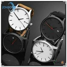 2015 Custom leather fashion wrist watch small wrist men watches bulk watches