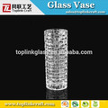 venta al por mayor de vidrio transparente ronda florero de hogar y jardín decoración florero de cristal