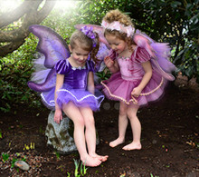 Girls elf party dress for kindergarden party, girls costomes tutu dress,baby girls birthday party dress with lovely angel wing