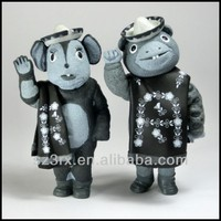 mouse couple figures, custom plastic mouse couple figures, OEM custom mouse couple figures