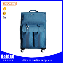 Alibaba website nylon luggage made in China luggage bag high quality travel luggage trolley with skate wheels