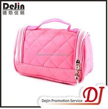 Custom leather promotional fashion travel cosmetic bag
