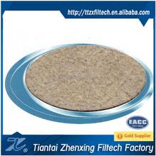 basalt needle punched felt filter cloth filter material