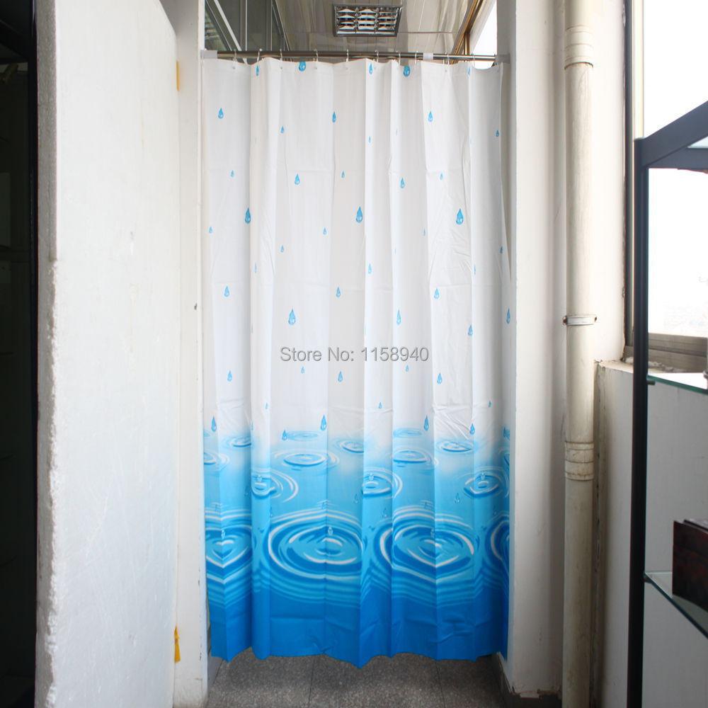 Cortina Baño Elegante:de agua azul cortina de ducha baño cortina cortinas de baño elegante