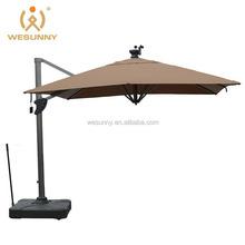 2015 most fashion outdoor patio garden solar charger led light umbrella