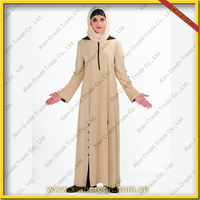 New arrival lady long muslim latest abaya styles 2013 with long zipper