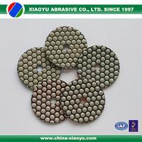 XIAOYU 5-step hexagon diamond dry polishing pads for angle grinder