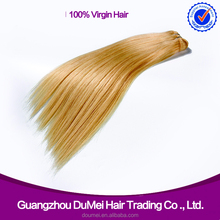 """Silky Straight wave 10""""-30"""" honey blonde human hair extensions indian"""